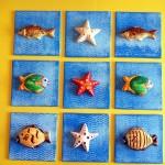 Fische im Quadrat oben
