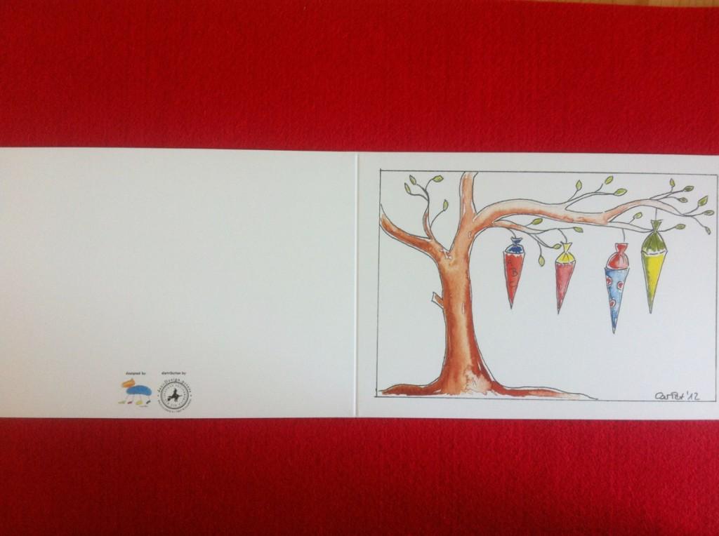 """""""Zuckertütenbaum"""" (Vorder- und Rückseite)"""