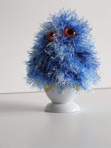 Eierwärmer blau melliert