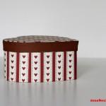 """GeschenkBox """"Herzen und Streifen"""" (c) Carola Peters"""