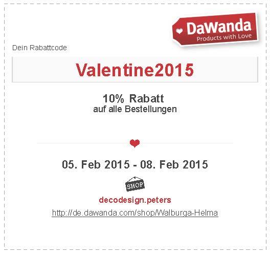 Rabatt zum Valentinstag